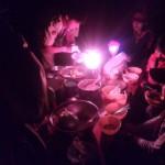 この写真は夕食時です。お米炊き上がりコンテストを行いました。