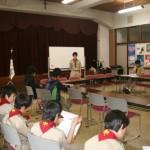 入団・上進式の後にベンチャースカウトの報告会が開催されました